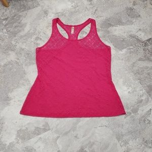 Cacique Pink Lace Underwire Chemise Slip Top 26/28